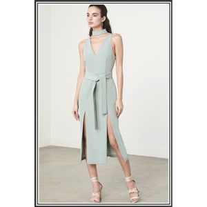 New Asos Lavish Alice Green Keyhole Slit Dress